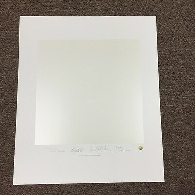 The Beatles White Album Plate Signed Litho Lithograph Poster LE Numbered
