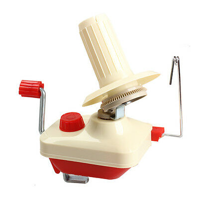 Hand Operated Knitting Roll String Yarn Fiber Wool Thread Ball Winder Holder NEW