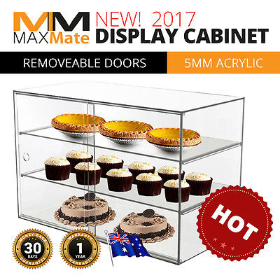 NEW Deluxe LARGE Cake Bakery Pastry Muffin Acrylic Shop Display Shelves Cabinet