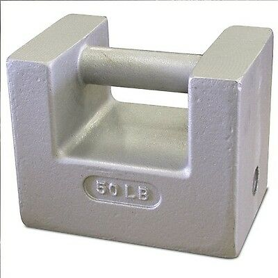 Rice Lake 12839 Cast Iron Painted Grip Handle Test Weight 50lb Mass NIST Clas...