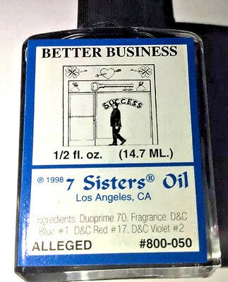 7 Sisters Of New Orleans -  Better Business Oil - 1/2 oz. Success Anoint Dress