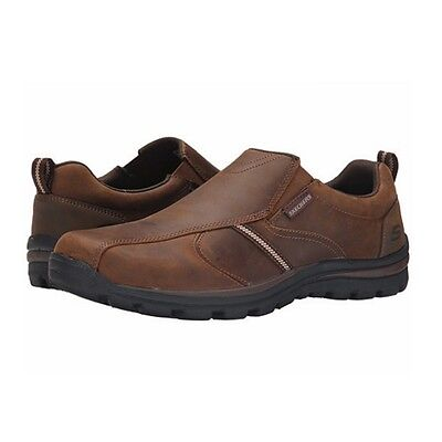 Receptor daño bolso  SKECHERS USA MEN'S Relaxed Fit Superior – Manlon Slip On Loafer Dark Brown  64590 - $54.99 | PicClick