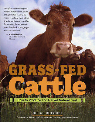 Grass Fed Cattle How to Produce & Market Natural Beef Cow Farming Large Book NEW