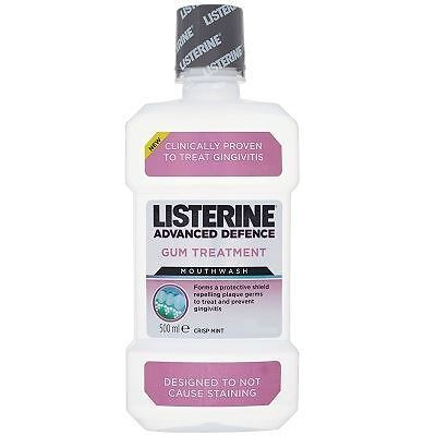 Listerine Advanced Defence Gum Treatment Crisp Mint 500ml