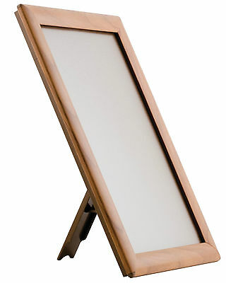 Tabletop Freestanding Snap Frames - Black, Wood or Silver - A5 or A4