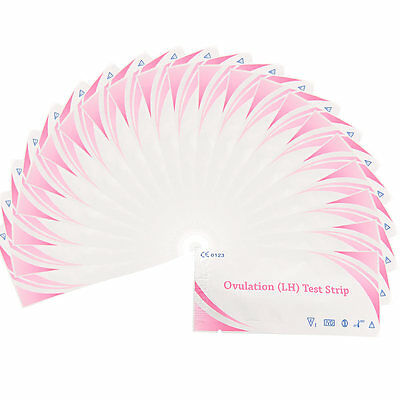 100pcs Ovulation Test Strips Early Pregnancy Monitor Home Test Clear Result