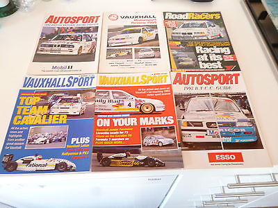 6 x AUTOSPORT SUPPLEMENTS BRITISH TOURING CAR RELATED 1990s *SEE PICTURE*