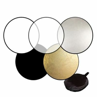 """32""""80cm 5-in-1 Light Mulit Collapsible Disc Photo Reflector For Canon Nikon Sony"""