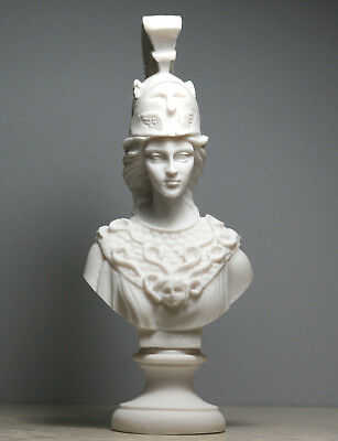 Athena Minerva Bust Greek Roman Goddess Statue Handmade Sculpture Head 7.8in