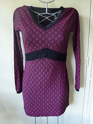 Tunique Grossesse Noppies Modele Sleeves Pailly Fuchsia Taille 42 Xl / G8