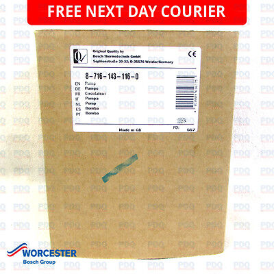 Worcester 24SI, 28SI & RD 628 Pump 87161431160 - GENUINE, BRAND NEW & FREE P&P