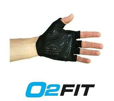 Unisex Cycling Black Half Finger Antiskid Gloves Bicycle Bike Men Women Ladies