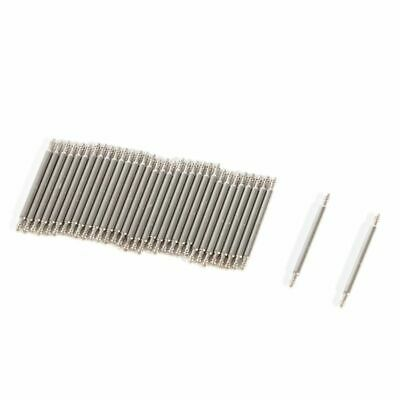 20X Stainless Steel Spring Bar Pins Link For Watch Band Strap Pick Size 12-26mm