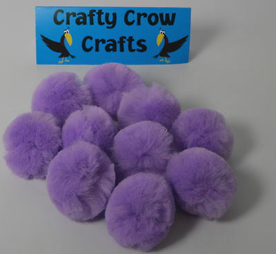 10 x NEW LARGE NEW ORCHID NEW COLOUR 50mm POM POMS