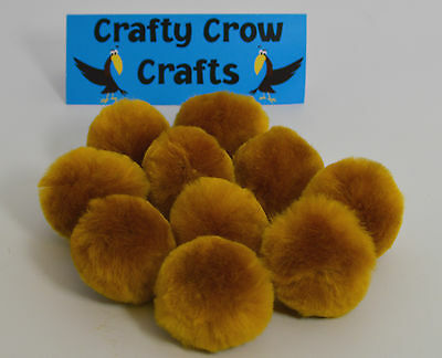 10 x NEW LARGE NEW GOLD NEW COLOUR 50mm POM POMS