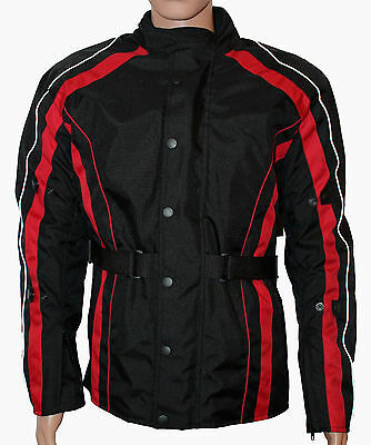 Men's Designer Waterproof Textile Sports Motorcycle Jacket - Black