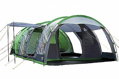Regatta 6 Man Vanern Outdoor Family Tunell Tent Green