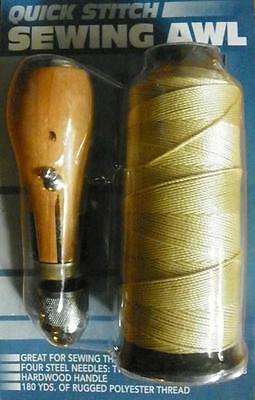 New Set Of 2 SEWING AWL KIT hand stitch Sails leather canvas repair