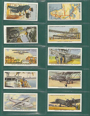 Aeroplanes  -  Empire  Air  Routes  -  Set  Of  50  Cards