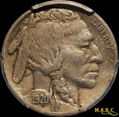 1920-S VF30 PCGS 5C Buffalo Nickel, Tough date/mm this nice, Free Ship, MARC