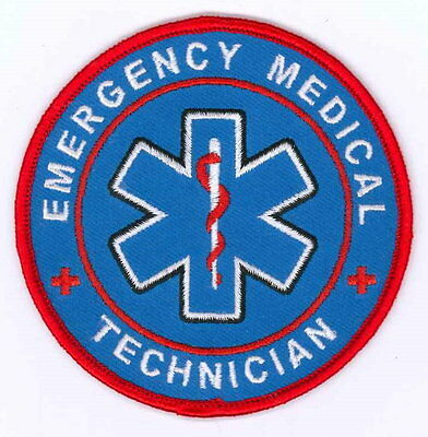 Emergency Medical Technician Patch / EMT / Rescue / Firefighter / EMS Ambulance
