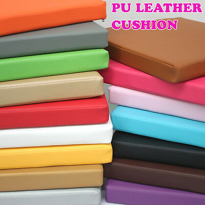 New Synthetic Leather Cushion Foam Chair Pads Office Car Seat Cushions Sofa