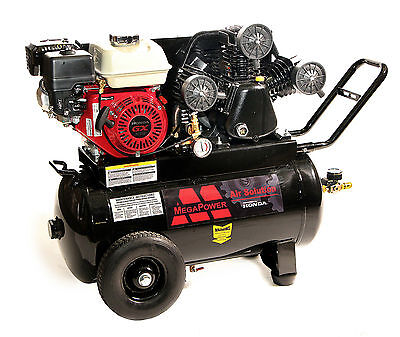 NEW! 6.5 HP Honda Engine, Portable Air Compressor, 20 gallon tank, Single Outlet