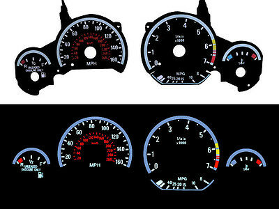 Usa 92-99 Bmw E36 3 Series E92 M3 Look White Glow Gauge Face Overlay
