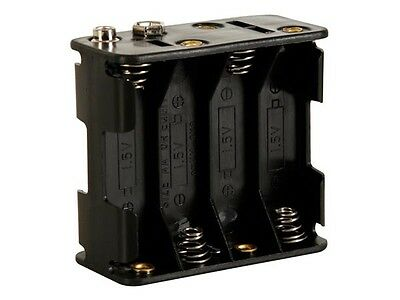 Velleman BH383B BATTERY HOLDER FOR 8 x AA-CELL (WITH SNAP TERMINALS)
