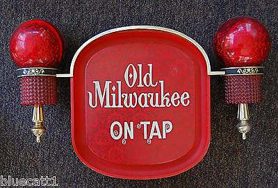 Old Milwaukee Beer Sign Vintage 1972 Schlitz Brewing Co Beer Sign Eclectic Cool