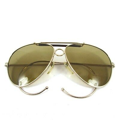 Shooter Aviator Sunglasses Occhiali Lunettes Glass Lens Anni 70 Vintage Italy