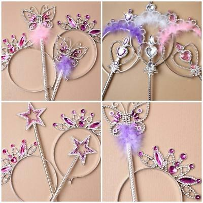 Wand And Tiara Star Butterfly Pink Lilac Purple White