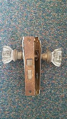 Antique, Vintage, Glass  Door Knob Set  Mechanism, no key • CAD $70.55