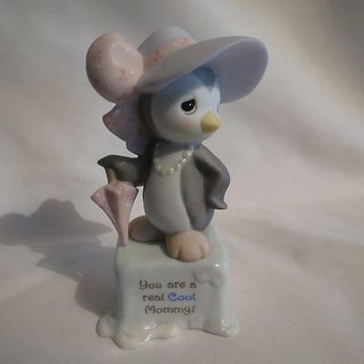 """Precious Moments 101495 """"You Are A Real Cool Mommy"""" Girl Penguin Figurine NIB"""