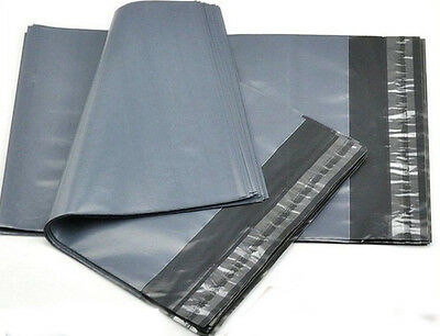 Strong Grey Plastic Mailing Bags Postage Mail Poly Pouches Self Seal, All Sizes