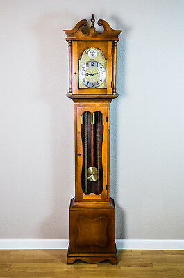 Herschede Vintage Grandfather Clock Floor Tower with Weights & Gong *FOR PARTS*