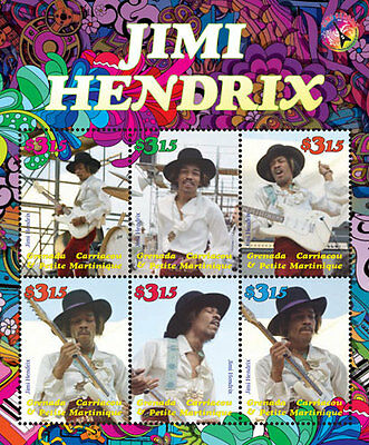 2016 Jimi Hendrix- Postage Stamps & Souvenir Sheet From - Granada Grendines