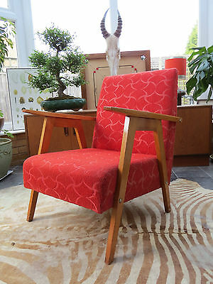 AN ORIGINAL 1950s EAST GERMAN  COCKTAIL LOUNGE ARMCHAIR MY16/66