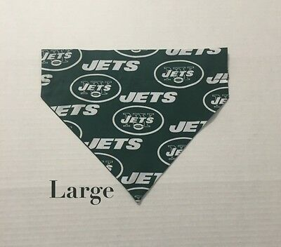 New York Jets NFL Football Over Collar Slide On Pet Dog Cat Bandana Scarf