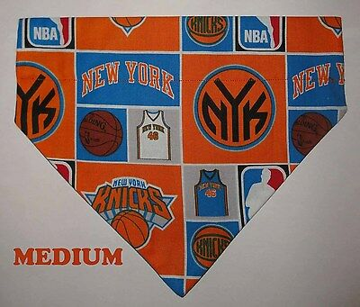 Over Collar Slide On Pet Dog Cat Bandana Scarf New York Knicks Knickerbockers