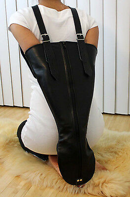 Real Cow Leather Single Glove Armbinder with Zipper  Escapology