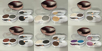 Eyeshadow 3 Colours Shimmer With Mirror Strong Pigments For Makeup Palette