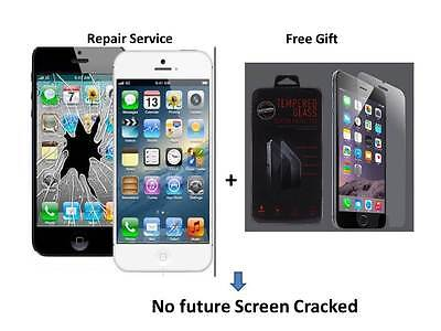 IPhone 5 broken cracked LCD glass screen repair service fast turnaround