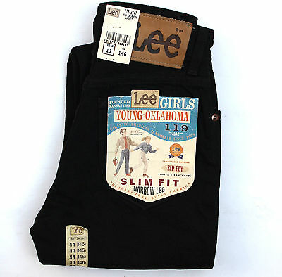 BNWT LEE YOUNG OKLAHOMA JEANS BLACK DENIM SLIM FIT SIZE 11 YEARS W24 SuPER!!