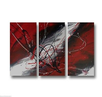 Abstract art canvas painting   black red white  . Wall art paintings Australia