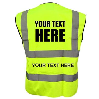 Customise Hi vis vest Personalised Printed High viz safety vest  EN471 Class2