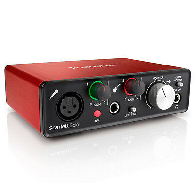 Cool Focusrite Scarlett Solo 2Nd Gen Pro Tools First Home Recording Largest Home Design Picture Inspirations Pitcheantrous