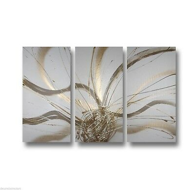 Abstract art canvas painting     gold brown white  Wall art paintings Australia
