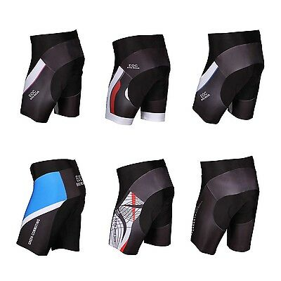 EOC Men's Cycling Shorts 3D Gel Padded Bike Bicycle Sports Tight S-3XL 9 Style