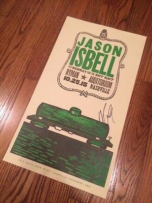 Rare Signed Autographed Jason Isbell Hatch Show Print Poster